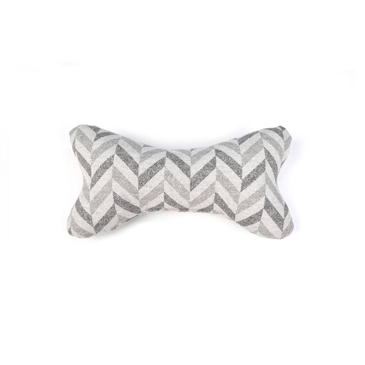 grey chevron pattern bone fabric soft dog toy ecofriendly project blu goa