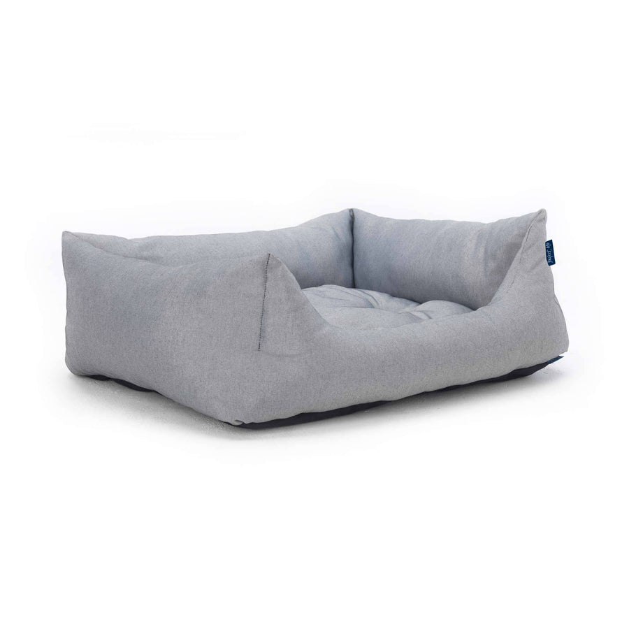 black white ecofriendly soft cosy fabric dog nest bed side view project blu adriatic