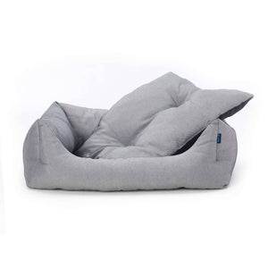 black white ecofriendly soft cosy fabric dog nest bed with washable cover project blu adriatic