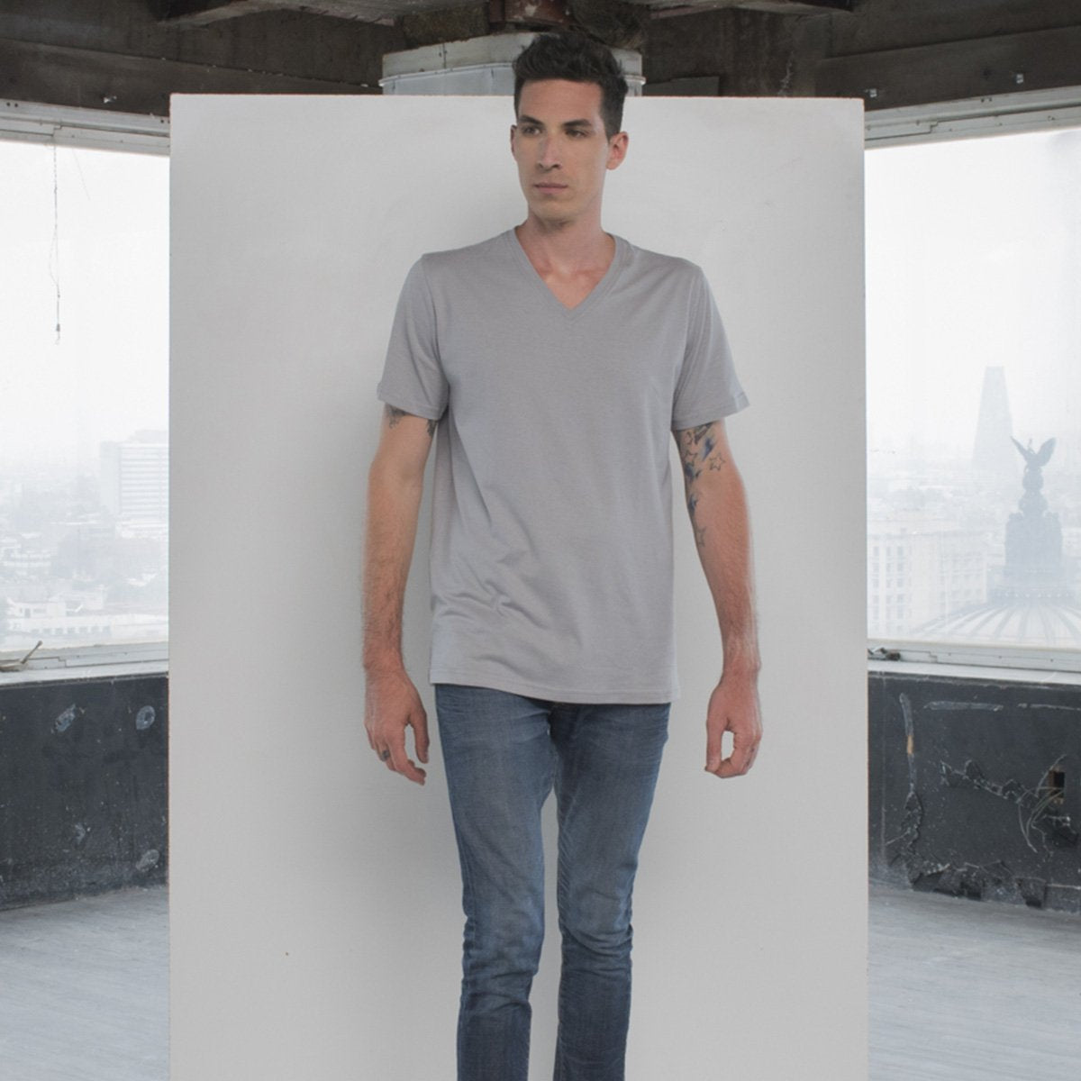 V-Neck Gray T-shirt