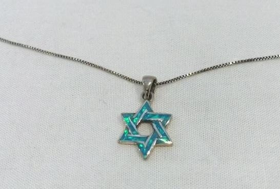 STAR OF DAVID OPAL NECKLACE