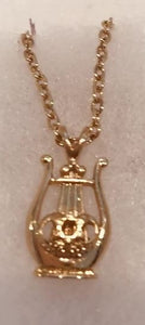 NECKLACE -HARP W/ STAR OF DAVID