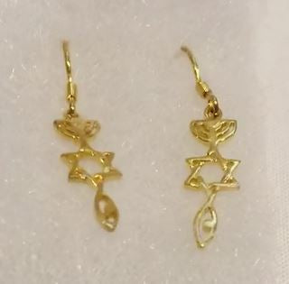 MESSIANIC SEAL EARRINGS