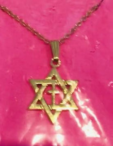 Star of David and Cross with Chain