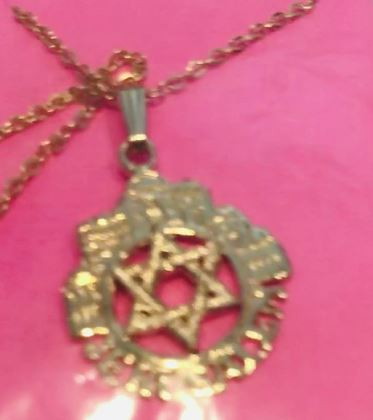 Jerusalem star with chain