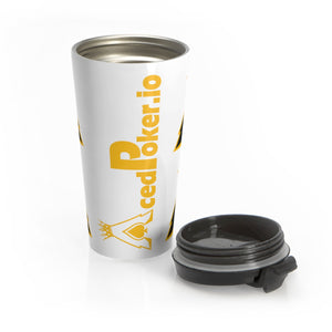 Acedpoker.io Stainless Steel Travel Mug | Crypto-Mob