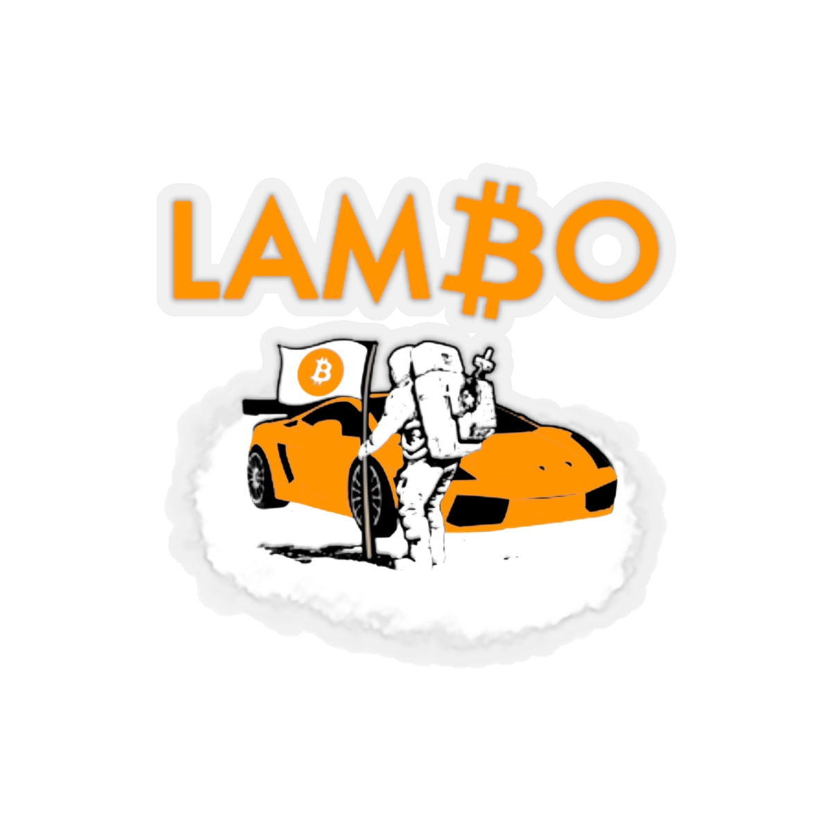 Lambo BTC Kiss-Cut Sticker | Crypto-Mob