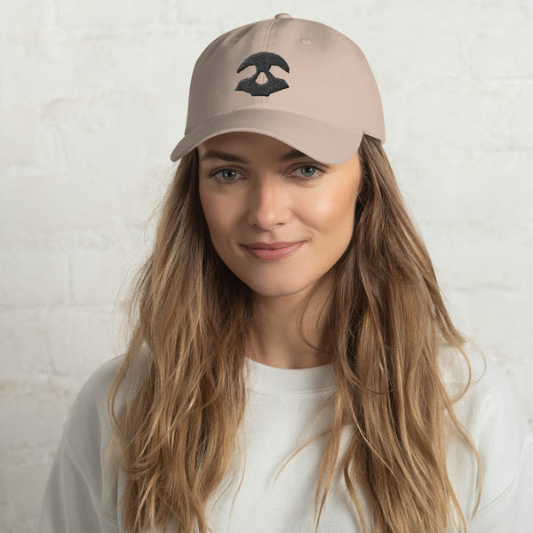 Skull Dad Hat Black | Crypto-Mob