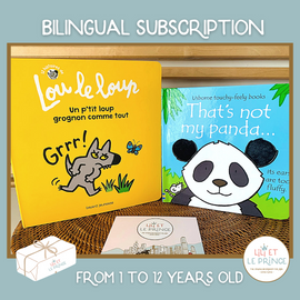 BILINGUAL SUBSCRIPTION 1 FRENCH BOOK 1 ENGLISH BOOK 1-12 years old