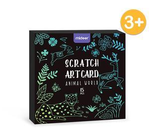 BLUE SCRATCH ART CARDS - 15 PIECES