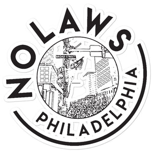 No Laws Sticker