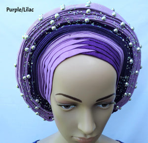 AutoGele (Aso Oke) - Purple/Lilac