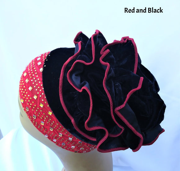 Hat with Ruffles  (Various Colors)