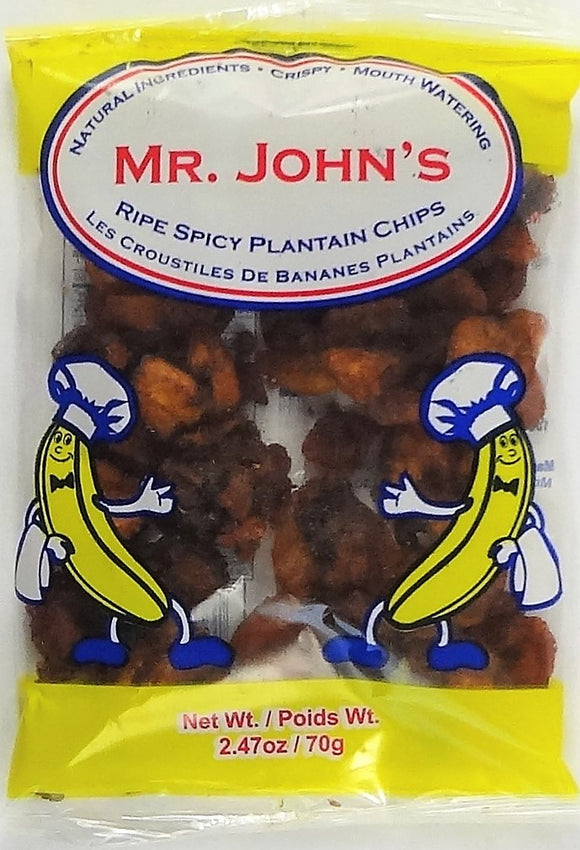 Mr John's Ripe Spicy Plantain Chips - Carry Go Market