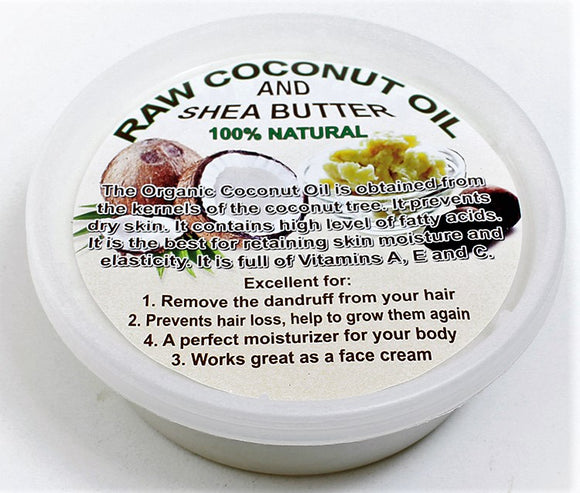 Raw Coconut Oil and Shea Butter 16oz