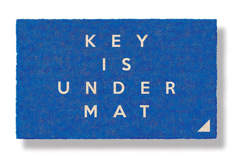KEY IS UNDER MAT