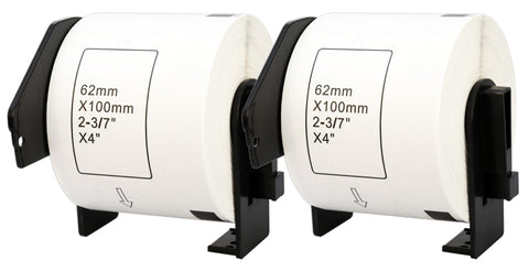 DK-11202 62 x 100 mm Compatible Shipping Labels Roll for Brother P-Touch QL-1100 QL-1060N QL-500 QL-700 QL-800 - Printing Saver