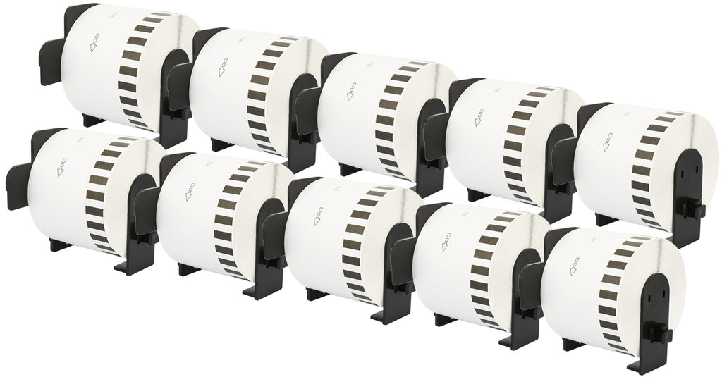 BROTHER DK-44205 BLACK ON WHITE CONTINUOUS LABEL ROLL 62mm P-TOUCH ETIKETTES