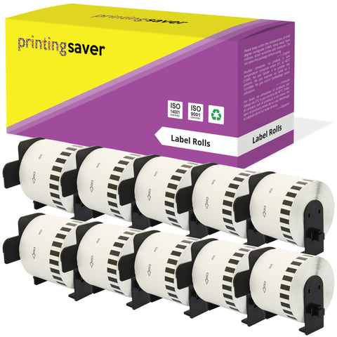 Compatible Roll DK44605 DK-44605 62mm x 30.48m Continuous Labels for Brother P-Touch - Printing Saver