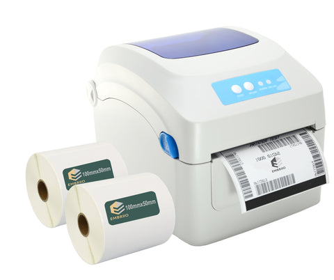 Desktop direct thermal Label Printer GP-1324D with labels