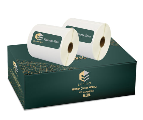 White direct thermal Labels Rolls replacement for GP-1324D & Zebra Type Printers