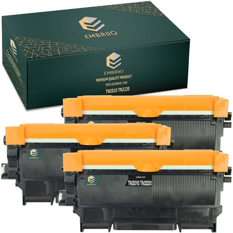 Compatible Brother TN-2010 TN2010 TN 2010 TN-2220 TN2220 TN 2220 TN-2030 TN2030 TN 2030 TN-2060 TN2060 TN 2060 Toner Cartridge by EMBRIIO