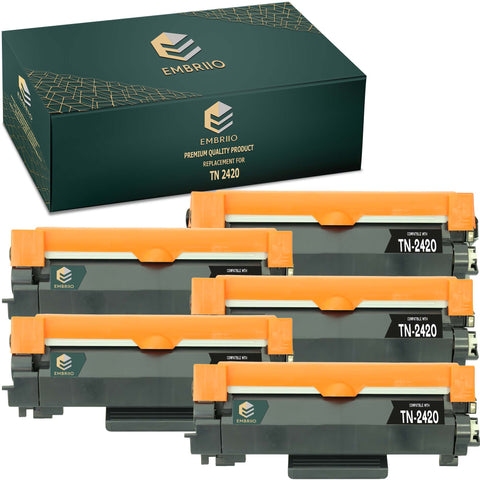 Compatible Brother TN-2420 TN2420 TN 2420 Toner Cartridge by EMBRIIO