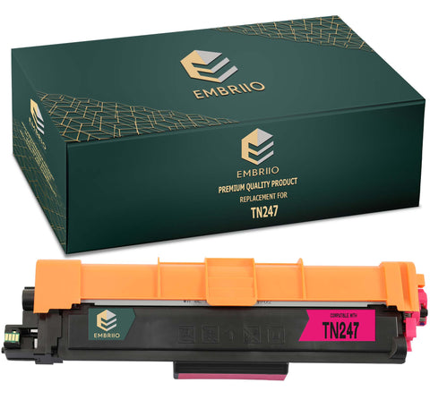 EMBRIIO TN-247 TN-247M Magenta Compatible Toner Cartridge Replacement for Brother DCP-L3550CDW HL-L3210CW DCP-L3510CDW HL-L3230CDW HL-L3270CDW MFC-L3750CDW MFC-L3710CW MFC-L3770CDW MFC-L3730CDN