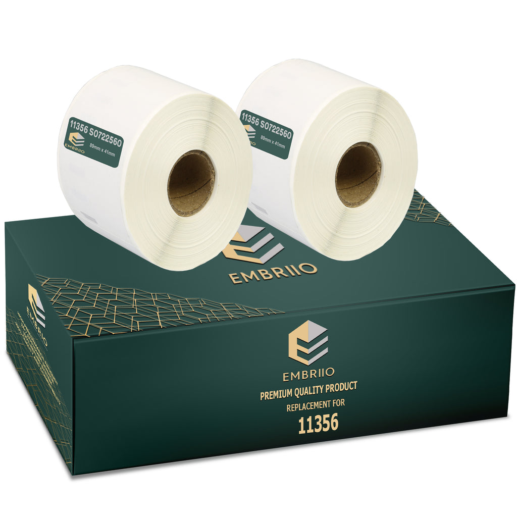 Compatible Dymo 11356 labels - Name Badge Label Rolls - 89mm x 41mm