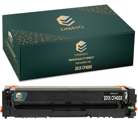 EMBRIIO CF400X 201X Black Compatible Toner Cartridge Replacement for HP Color LaserJet Pro MFP M277dw M277n M274n M252dw M252n
