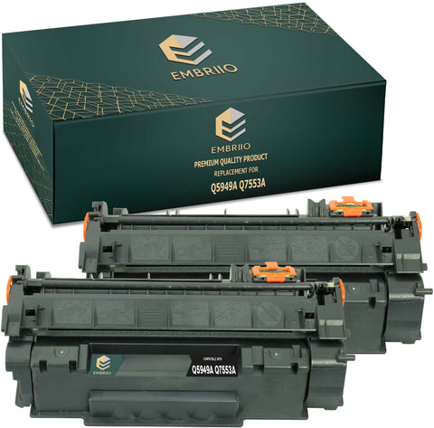 Compatible HP Q5949A 5949A 49A Q7553A 7553A 53A CRG 715 CRG-715 CRG 708 CRG-708 Toner Cartridge by EMBRIIO