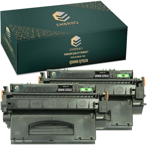 Compatible HP Q5949X 5949X 49X Q7553X 7553X 53X Toner Cartridge by EMBRIIO