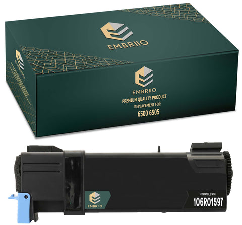 EMBRIIO 6500 6505 106R01597 Black Compatible Toner Cartridge Replacement for Xerox 6500N 6505N 6505DN 6500DN 6500VDN