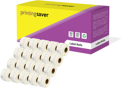 Printing Saver 99013 36 x 89 mm Compatible Clear Address Labels Roll for Dymo LabelWriter 300 320 400 450 Turbo - Printing Saver