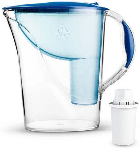 Water Filter Jug Dafi Atria Classic 2.4L with Free Filter Cartridge - Blue - Printing Saver