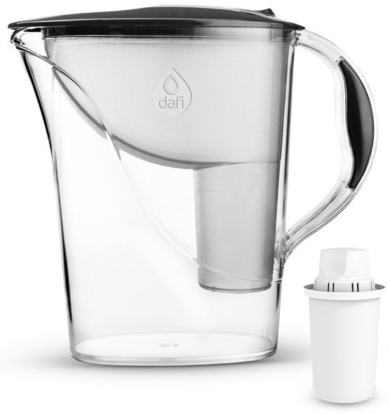 Water Filter Jug Dafi Atria Classic 2.4L with Free Filter Cartridge - Graphite - Printing Saver