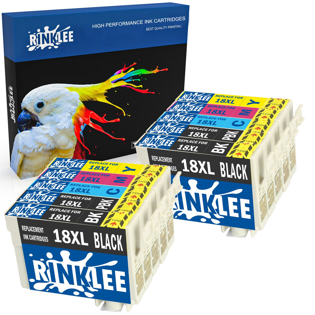 Compatible ink cartridge 18XL replecement for Epson by Rinklee