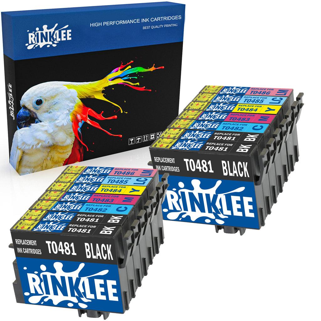 Compatible ink cartridge T0481 T0482 T0483 T0484 T0485 T0486 T0487 replecement for Epson by Rinklee