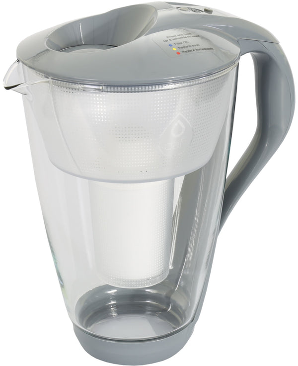 Water Filter Glass Jug Dafi Crystal Classic 2.0L with Free Filter Cartridge - Graphite - Printing Saver