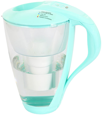 Water Filter Glass Jug Dafi Crystal Classic 2.0L with Free Filter Cartridge - Mint - Printing Saver