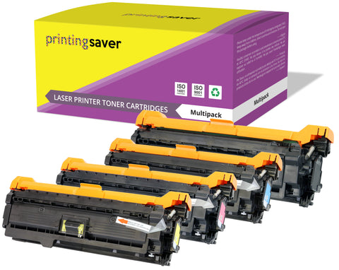 Printing Saver Compatible CE250X 504X compatible colour toner for HP colour LaserJet CM3530 MFP, CP3520 CP3525, CP3530 - Printing Saver
