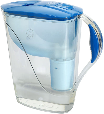 Water Filter Jug Dafi Luna Classic 3.3L with Free Filter Cartridge - Blue - Printing Saver