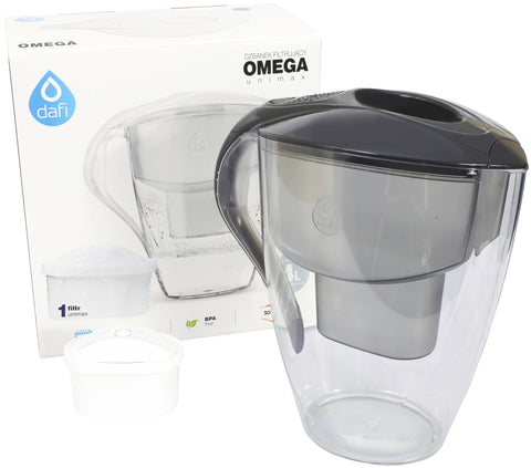 Water Filter Jug Dafi Omega Unimax 4.0L with Free Filter Cartridge - Graphite - Printing Saver