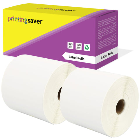 Compatible Roll 100mm x 150mm White Direct Thermal Labels for Zebra - Printing Saver