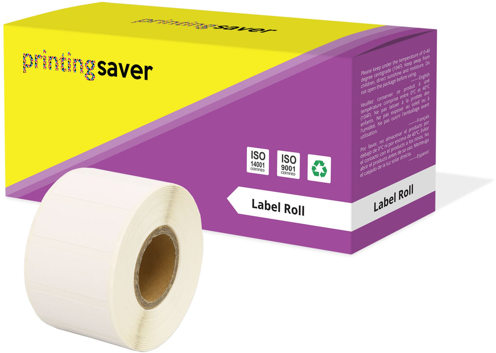 Compatible Roll 35mm x 14mm White Direct Thermal Labels for Zebra GK420d ZD420 TLP 2844 Citizen CL-S521 - Printing Saver