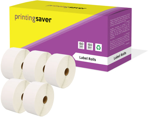Compatible Roll 52mm x 38mm White Direct Thermal Labels for Zebra GK420d ZD420 TLP 2844 Citizen CL-S521 - Printing Saver