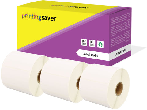 Compatible Roll 72mm x 36mm White Direct Thermal Labels for Zebra GK420d ZD420 TLP 2844 Citizen CL-S521 - Printing Saver