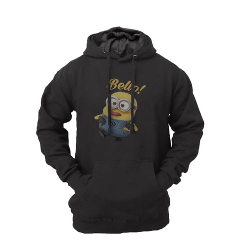 Men's Minion Fleece Pullover Long-sleeved Printed Hoodie
