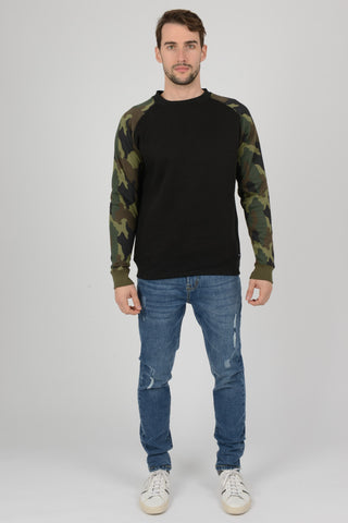 mens camouflage sweatshirt top jumper pullover