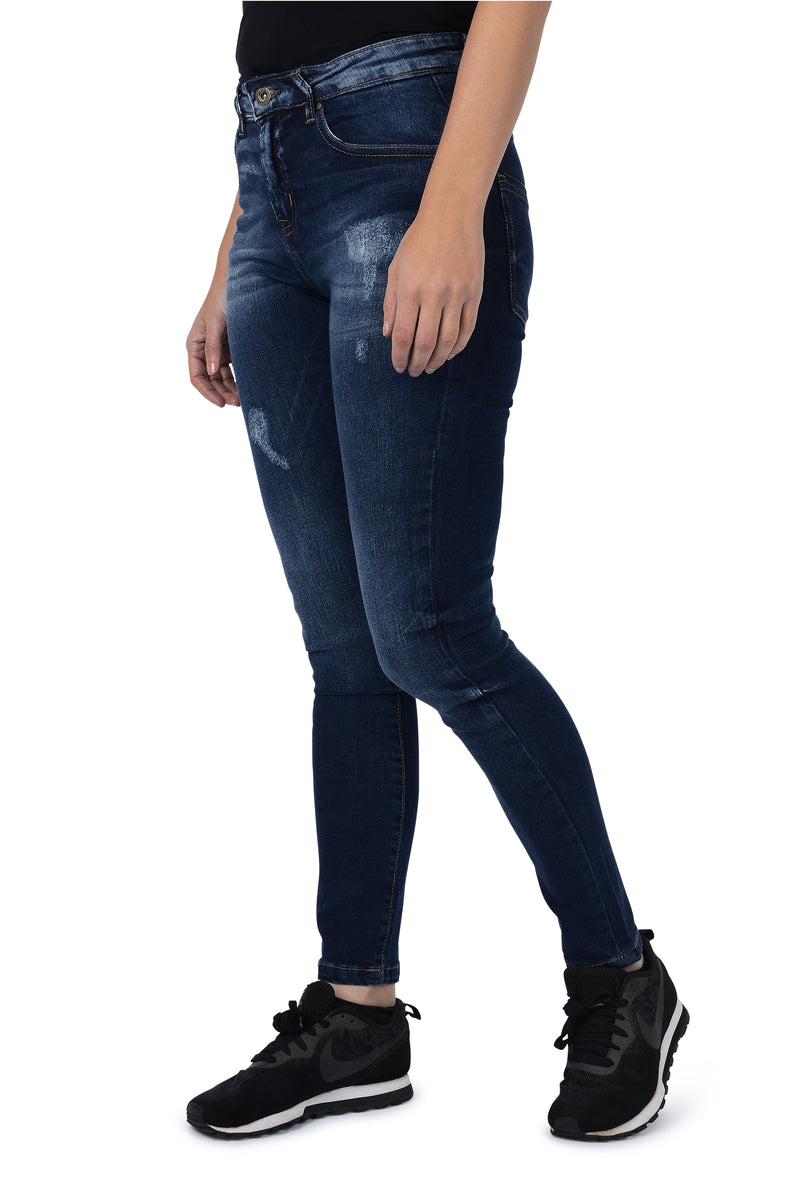 5829a6798bf Minerva Women s Classic Slim And Shape Skinny Jeans – Distressed Indigo